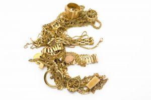 Goldschmuck als Eurozeichen