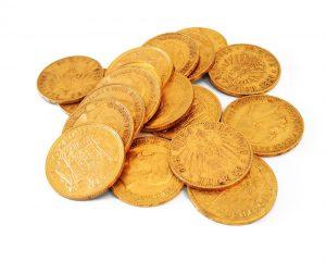 Kronen und 20-Mark Goldmünzen