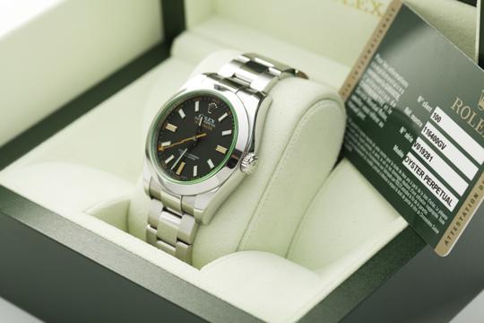 Klassische Uhren wie diese Rolex Milgauss werden von uns angekauft!