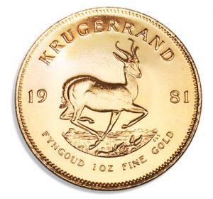 Die wahrscheinlich bekannteste Analage Münze aus Gold – der Krügerrand.