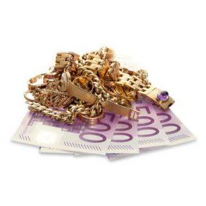 Goldshcmuk auf 500 Euro Scheinen