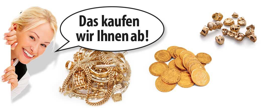 Anleitung Goldankauf von Schmuck, Münzen und Zahngold