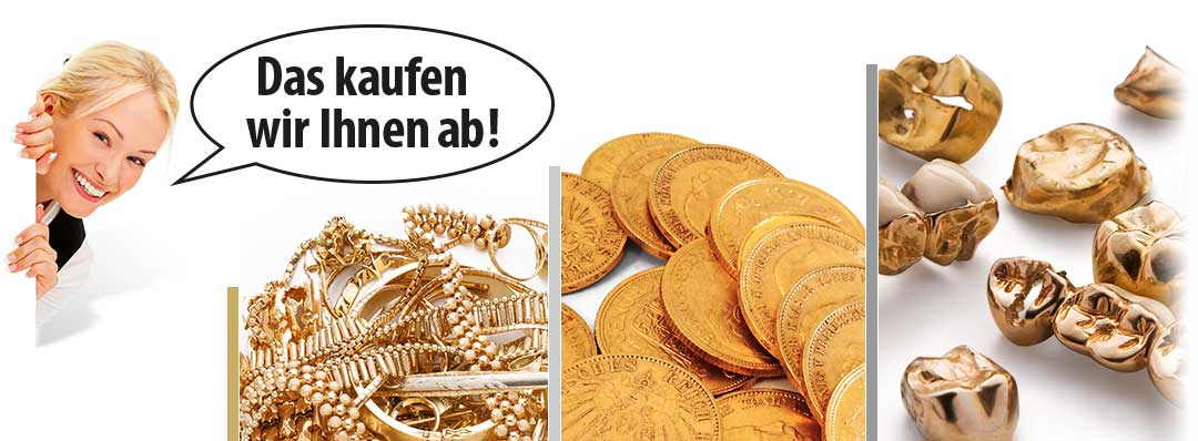 Goldankauf Krefel für Schmuck, Münzen und Zahngold