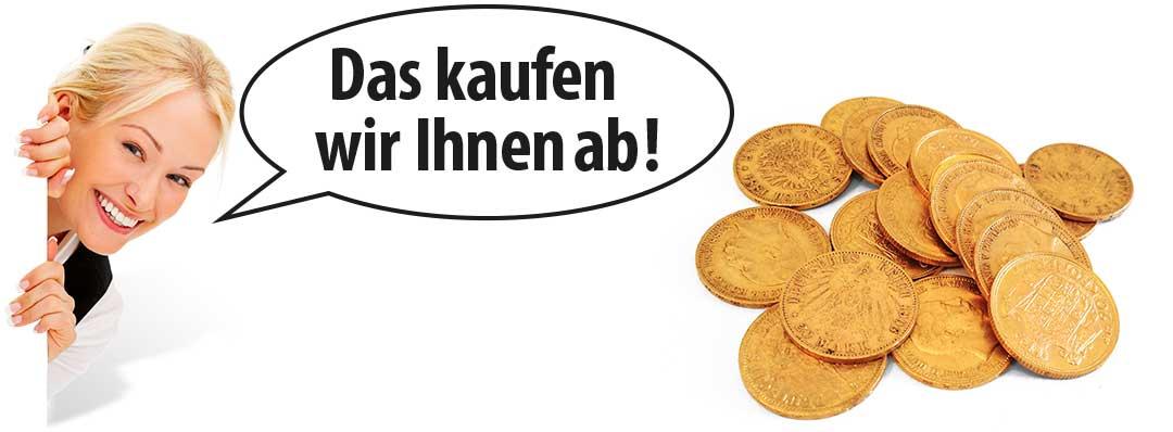 Münzen verkaufen - Gold, Silber, Platin