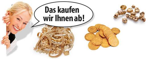 Gold Ankauf von Schmuck, Münzen und Zahngold